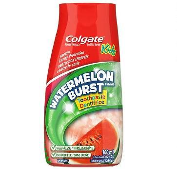 Colgate 高露洁 2合1 儿童啫喱牙膏 草莓味/西瓜味2.74加元