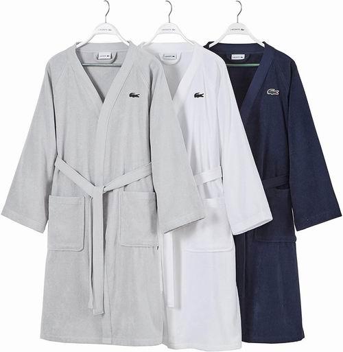Lacoste 经典纯棉浴袍 75.13-78.07加元,原价 123.5加元,包邮