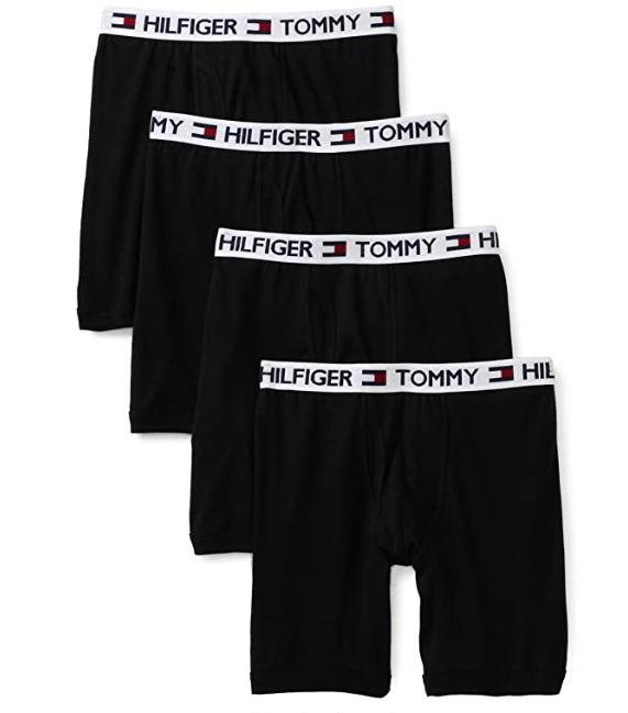 Tommy Hilfiger 男士纯棉平角裤4件套 27.96加元(S码)