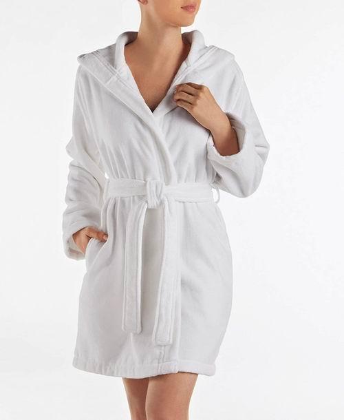 Lacoste Fairplay 女士纯棉带帽浴袍 62.84加元起,原价 125加元,包邮