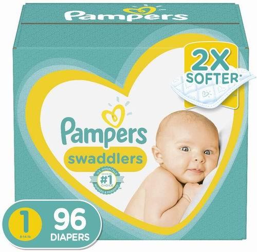 Pampers Diapers Newborn 帮宝适婴幼儿尿不湿/纸尿裤 96装 19.97加元(1-6码),原价 29.99加元