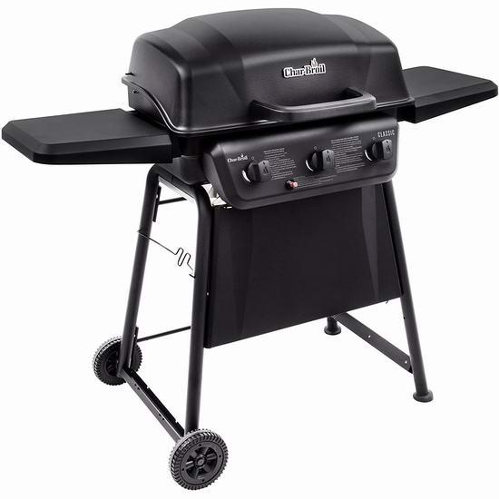Char-Broil Classic 360 3炉头燃气BBQ烧烤炉5.6折 241.93加元包邮!
