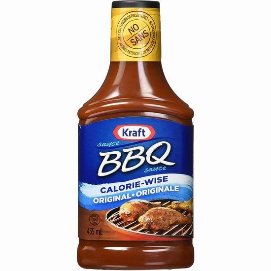 Kraft 卡夫 BBQ 烧烤酱(455ml)3.9折 0.97加元!5款可选!