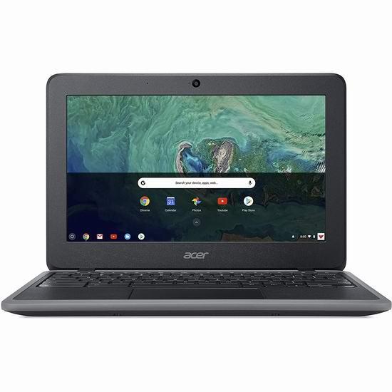 金盒头条:历史新低!Acer 宏碁 C732 11.6英寸 Chromebook 笔记本电脑(4GB, 32GB)319加元包邮!