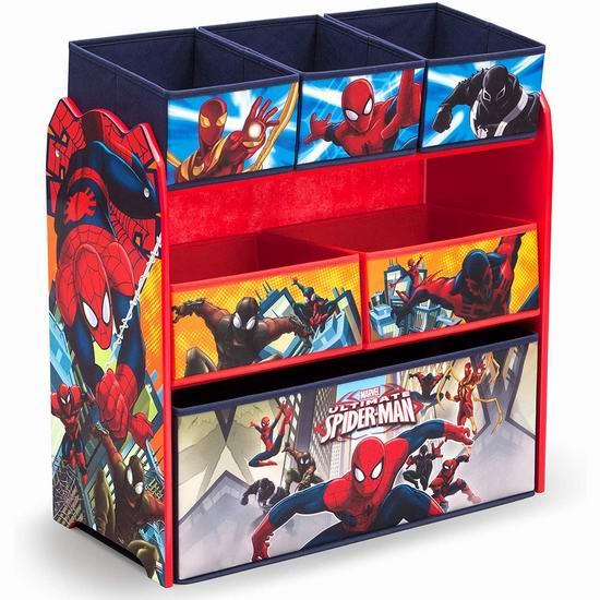 历史最低价!Delta Spider-Man 蜘蛛侠 儿童玩具收纳架 47.97加元包邮!