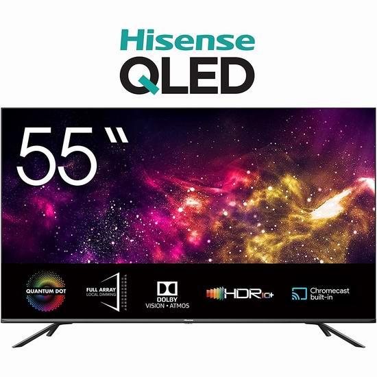历史新低!Hisense 海信 55Q8G 55英寸 4K ULED超画质 量子点 安卓智能电视 598加元包邮!