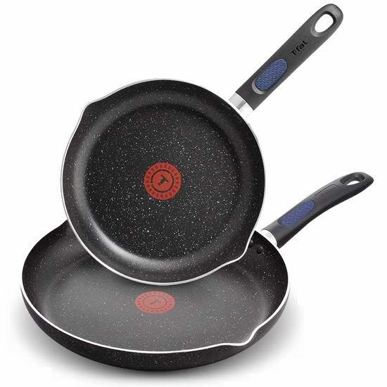 T-fal B292S274 Signature 红点不粘底煎锅2件套(24+30厘米) 34.97加元!