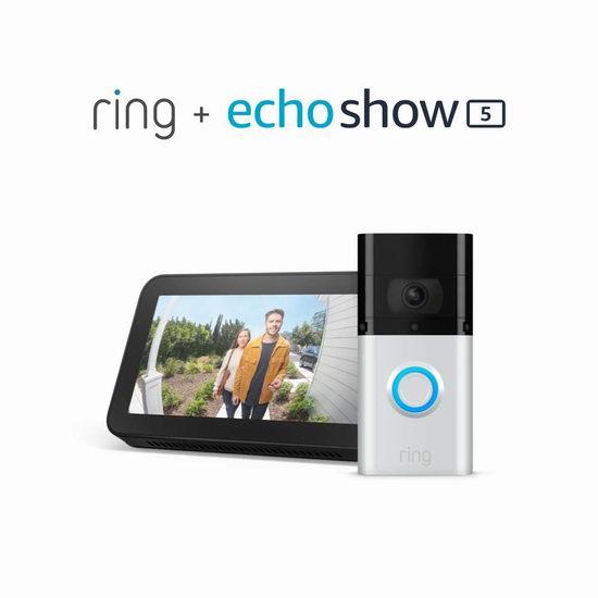 新品 All-new Ring Video Doorbell 3 Plus 智能可视门铃5.8折 224.99加元包邮!送价值99.99加元Echo Show 5智能显示器!会员专享!