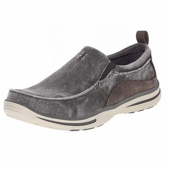 Skechers 斯凯奇 Elected Drigo 男式一脚蹬 休闲帆布乐福鞋4.6折 39.88加元包邮!码齐!