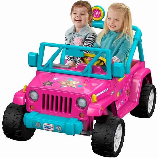 近史低价!Fisher-Price 费雪 Power Wheels Barbie 儿童双人座越野电动车 295.16加元包邮!