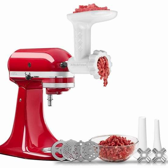 历史新低!KitchTree KitchenAid 厨师机专用 绞肉/灌肠通用配件 45.04加元包邮!
