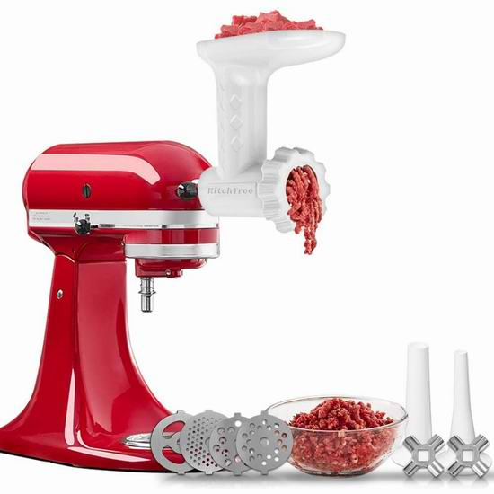 KitchTree KitchenAid 厨师机专用 绞肉/灌肠通用配件 46.74加元包邮!