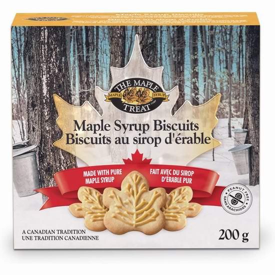 历史新低!The Maple Treat 枫糖浆饼干(200克)4.5折 2.3加元!
