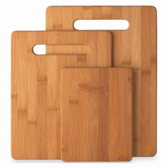 Bambüsi 有机竹菜板3件套 19.99加元!