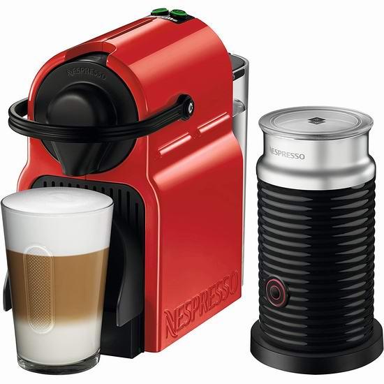 Nespresso Inissia 胶囊咖啡机+奶泡机套装 169.99加元包邮!