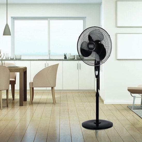 近史低价!Black & Decker 16英寸 落地式电风扇 43.76加元包邮!