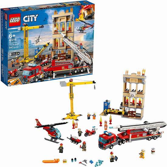 手慢无!LEGO 乐高 60216 城市消防救援队(943 pcs)6.4折 89.98加元包邮!