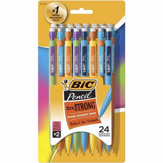 历史最低价!BIC Pencil Xtra Strong 自动铅笔24支超值装3.1折 5.97加元!