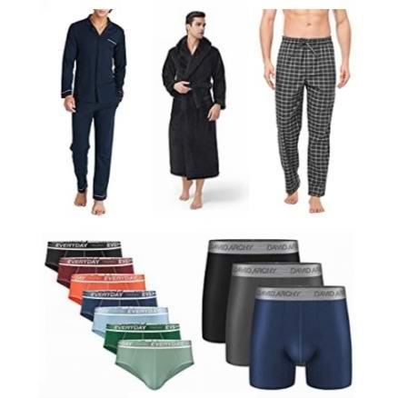 金盒头条:精选多款 DAVID ARCHY 男式睡衣、内裤、T恤、浴袍等6.1折起!