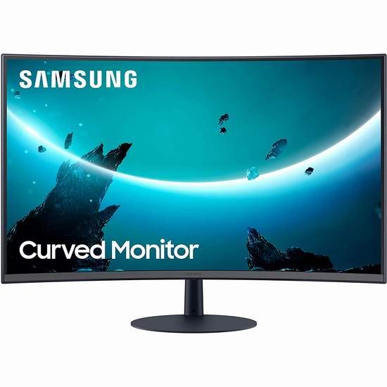 Samsung 三星 T55 32英寸 1080P全高清 曲面屏显示器 328加元包邮!