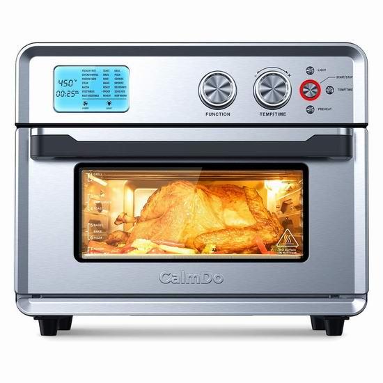 CalmDo 25升大容量 21合一 智能对流空气炸锅/烤箱 229加元包邮!