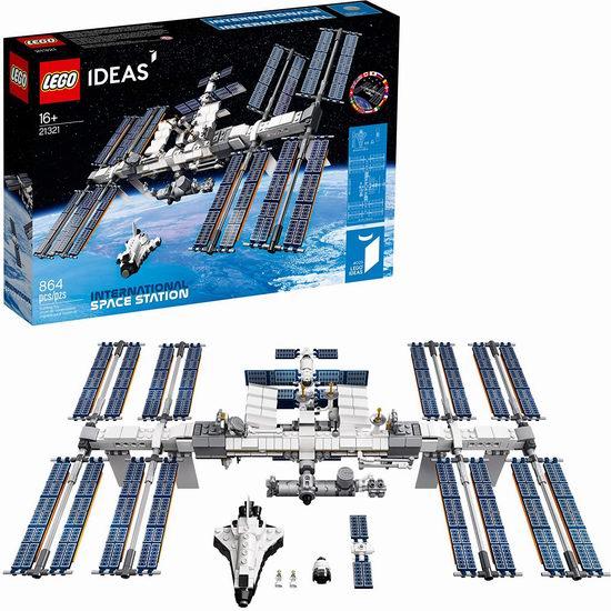 历史新低!LEGO 乐高 21321 国际空间站(864pcs) 84.99加元包邮!