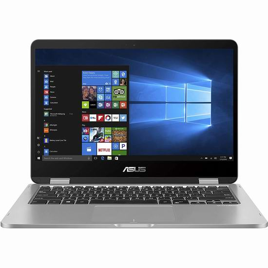 历史最低价!Asus 华硕 VivoBook Flip 14英寸 触摸屏 变形笔记本电脑(4GB, 128GB) 379加元包邮!