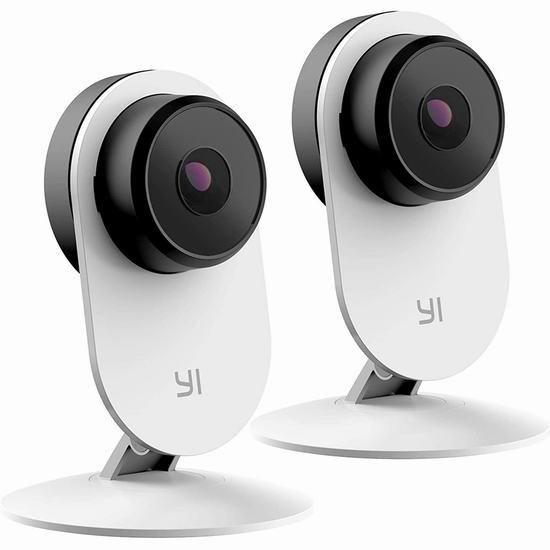 金盒头条:历史新低!Xiaomi 小米 Yi 小蚁 1080p 双向语音 红外夜视 智能监控摄像机2件套 63.99加元包邮!看家护娃防贼,一机多用!