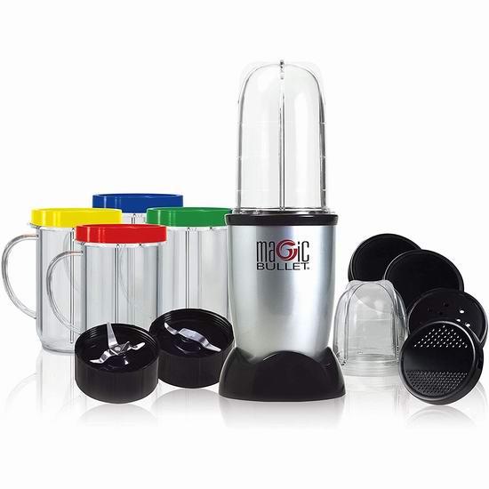 Magic Bullet MBR-1702 多功能食物料理机/榨汁机17件套 39.98加元包邮!实惠又好用!