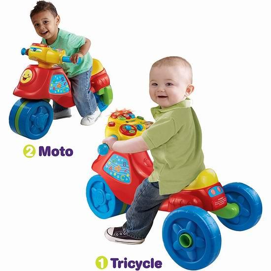 历史最低价!VTech 伟易达 二合一 法语版 儿童益智滑行车/三轮摩托车5折 25加元!