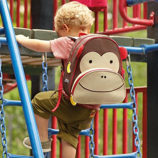 历史新低!Skip Hop 超级可爱动物园 12英寸 儿童书包/背包5折 15加元!3款可选!