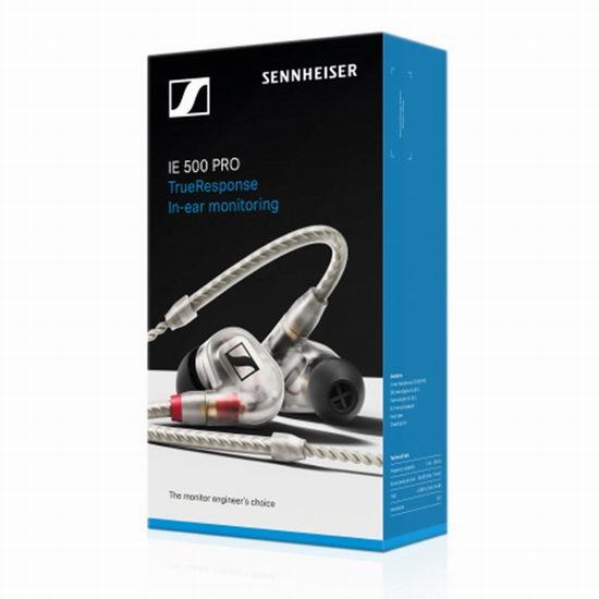 历史新低!Sennheiser 森海塞尔 IE 500 Pro Clear 旗舰级 入耳式专业监听耳机5.2折 389.95加元包邮!