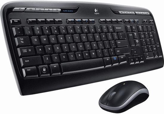 Logitech 罗技 MK320 无线键盘鼠标套装 39.99加元包邮!