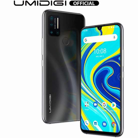 UMIDIGI A7 Pro 6.3英寸 水滴屏 双卡双待 4镜头 解锁版智能手机(4GB+64GB) 169.99加元包邮!