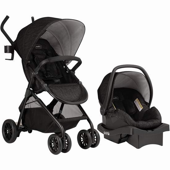 历史新低!升级版 Evenflo Sibby 2 婴儿推车+婴儿提篮旅行套装5.7折 199.97加元包邮!配备二胎踏板!