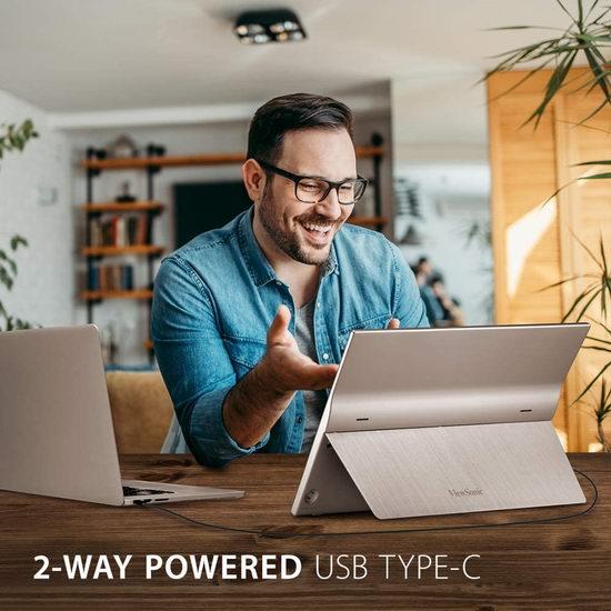 新品预售:ViewSonic 优派 TD1655 15.6英寸 1080p全高清 触摸屏 便携式显示器 232.39加元包邮!比官网便宜95.84加元!