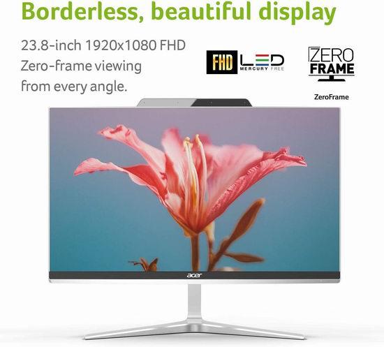 Acer 宏碁 Aspire Z24-890-UA91 AIO 23.8英寸 全高清 超薄零边框 台式电脑一体机 940.26加元包邮!