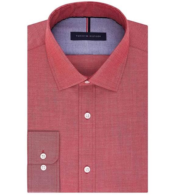 Tommy Hilfiger 男士修身衬衣 17.89加元(S码),原价 51.98加元