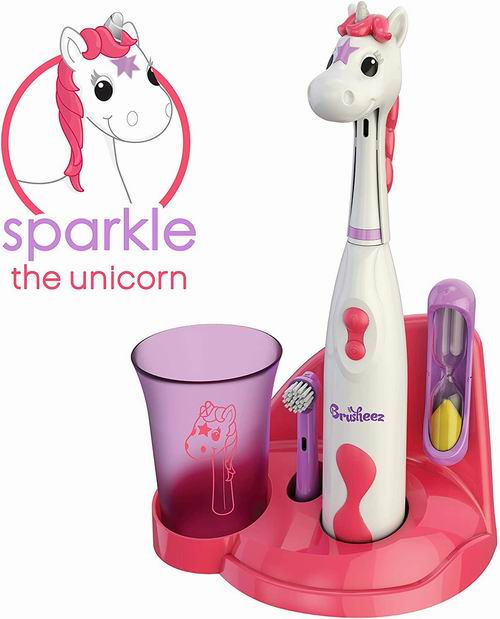 Brusheez 动物造型儿童电动牙刷套装 26.99加元,4款可选