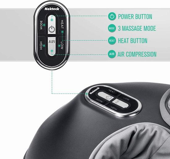 历史新低!Nekteck 电动足部按摩器/足疗机 84.99加元包邮!