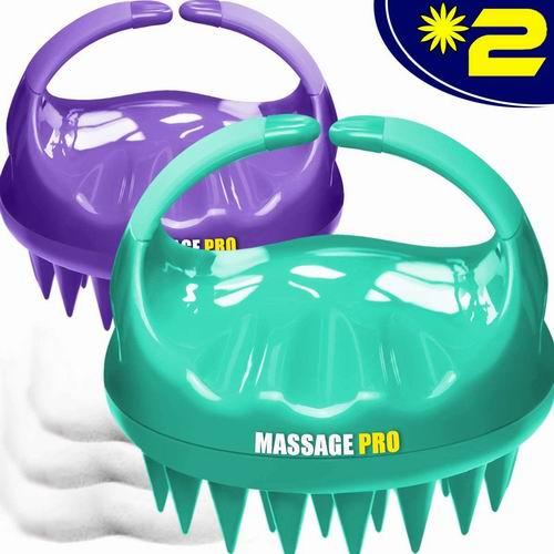 销量第一!Cbiumpro 2020升级版防水头皮按摩器/淋浴按摩梳 2件套 12.72加元限量特卖!