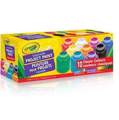 Crayola 可水洗颜料罐 10×59毫升 4.97加元,原价 10.23加元