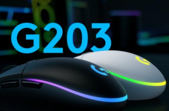 Logitech G203 LIGHTSYNC 游戏鼠标 39.99加元(2色),原价 49.99加元,包邮