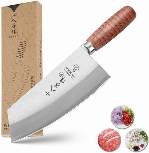 阳江十八子作 7英寸不锈钢中式菜刀 34.38加元包邮!