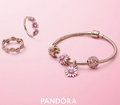 Pandora精美饰品7折,让搭配也变得随心而欲,入小雏菊系列