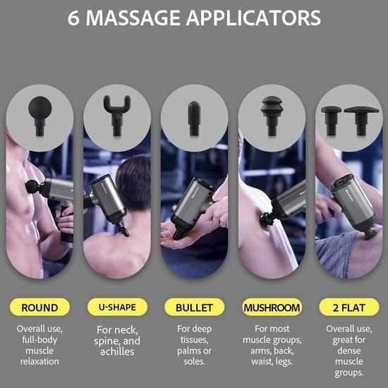 独家:历史新低!新品 MaxKare 6按摩头 深层肌肉放松 筋膜枪/按摩枪 95.99加元包邮!免税!
