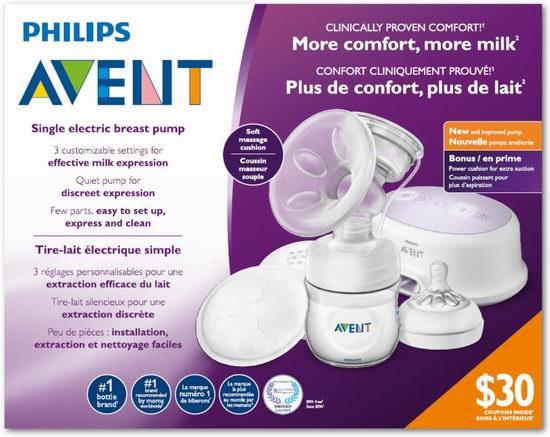 Philips 飞利浦 Avent 新安怡 SCF332/21 单边电动吸奶器6.4折 108.45加元包邮!
