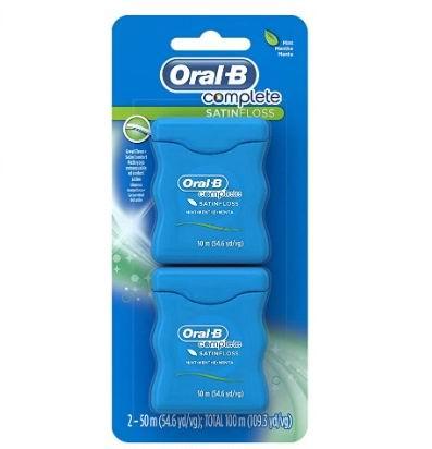 Oral-B 全缎牙线 薄荷味 50米×2盒 5.67加元
