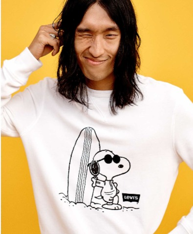 Levi's X Peanuts呆萌史努比夏日趣玩运动会系列开卖  T恤 40加元
