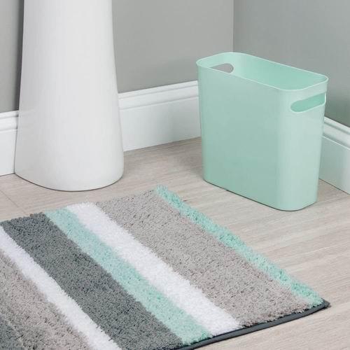 iDesign UNA 薄荷绿带手柄矩形垃圾桶 12.82加元,原价 45.34加元